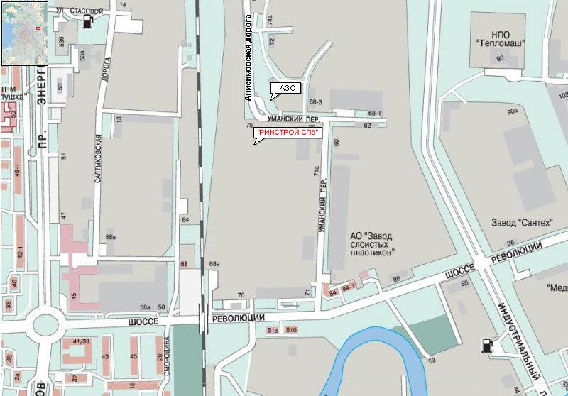 уманский переулок на карте